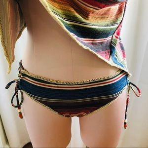 Becca Side Lace Metallic Rainbow Bikini Bottom